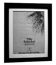 MIKE RUTHERFORD+GENESIS+Day+POSTER+AD+RARE ORIGINAL 1980+FRAMED+FAST GLOBAL SHIP