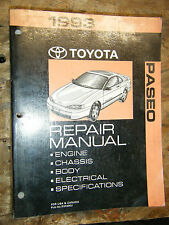 1993 TOYOTA PASEO ORIGINAL FACTORY CHASSIS ELECTRICAL BODY ENGINE SERVICE MANUAL