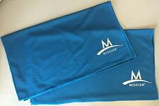 2-PACK ~ Mission Athletecare Enduracool Instant Cooling MESH Towel ~ Blue ~ XL