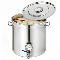 Commercial Stainless Steel Stock Pot Home Kitchen Cookware 33,50,70,98,130,169L