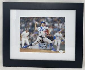 LA Dodgers TREVOR BAUER Signed Autographed FRAMED 8x10 Photo JSA! NL CY YOUNG!