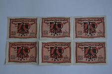 Arnstadt notgeld 6x 10 Pfennig (caricatures) ensemble complet billet en allemand (s) (6950)
