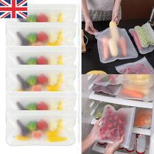 Royaume-Uni Silicone Alimentaire Fruits Sac de Rangement Congélateur Réutilisabl...