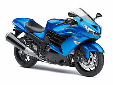 Motorrad Modell 1:18 Kawasaki Ninja ZX-14 R blau Maisto mit Wunschkennzeichen