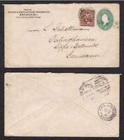 United States USA 1891 Uprated Postal Stationery Cover to Germany