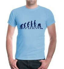 Herren Unisex T-Shirt The Evolution of Curling Eistockschießen Fanshirt Eisbahn