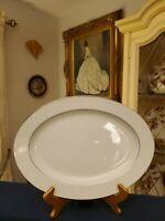 "Crown Victoria Fine China LOVELACE Large 14.25""x10.5"" Serving Platter.  EUC!"