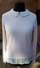Pink Hybrid Shirt Jumper Cotton & Cashmere Size M/L - Myotonic Dystrophy Charity