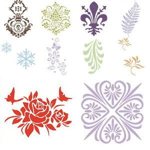 Decorative Wall Painting Stencil Spray Reusable Flower Pattern Template Mold