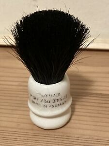 Shaving Brush Genuine Steralised Hog Hair And China Base, Hardly If At All Used,