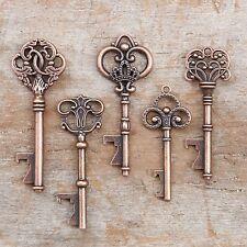 50 Assorted Key Bottle Openers Vintage Antique Copper Wedding Favors Keys