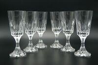 "SIGNED BACCARAT D'ASSAS CLEAR CUT CRYSTAL 6 WINE GLASSES ASSAS SET H.7"" FRANCE"