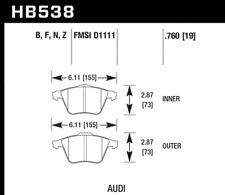 Hawk Disc Brake Pad Front for 04-14 Volkswagen Passat / Golf & Audi A6 / A4 / S4