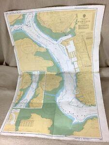1982 Vintage Maritime Map Plymouth Hamoaze Devonport Saltash HMS Drake Chart