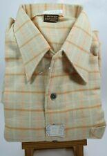 Herren Hemd Oberhemd Langarm Freizeithemd 70er Gr.37 kariert Vintage NOS 2-25