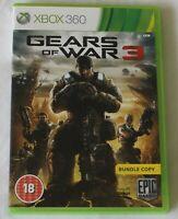 XBOX 360 Game Gears of War 3 PAL - Disc/Manual - Worldwide Shipping