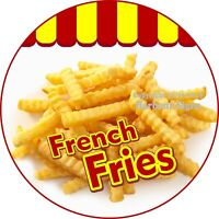 French Fries DECAL (Choose Your Size) Concession Food Truck Circle Sticker