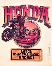 80s Honda Motorcycle Street Bike CB750F SS Chevy Camaro vTg Orig t-shirt iron-on