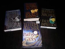 Jeffrey Archer PATHS OF GLORY,FALSE IMPRESSION,FOURTH ESTATE,HONOR AMONG THIEVES