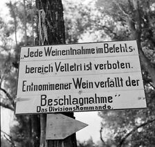 WW2 Photo WWII German  Sign Between Valmontone and Rome 1944  Italy   / 1416