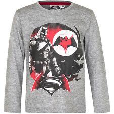 NUEVO Camisa Jersey Niños Batman v Superman Azul Gris 104 116 128 140 #121