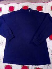 Vintage 90's NIKE Mock Neck Long Sleeve Shirt Size XL Swoosh Black Blank. USA
