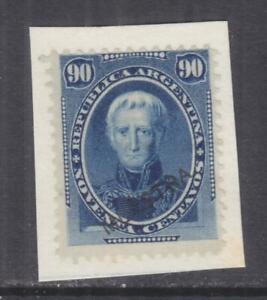 ARGENTINA, 1873 90c. Saavedra, MUESTRA, stuck down on piece of paper.