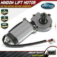 Window Motor with 9-Tooth Gear for Ford Mustang 1984-1993 Convertible Rear Right