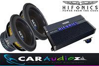 "HIFONICS MASSIVE BASS PACKAGE DOUBLE 12"" SUBWOOFER AMPLIFIER SUPERCAR AUDIO DEAL"