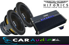 "HIFONICS Massive BASS pacchetto singolo 12 ""SUBWOOFER AMPLIFICATORE SUPERCAR AUDIO AFFARE"