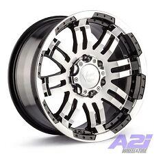 "14"" Vision 375 Warrior Black Machined Wheel 14x5.5 5x4.5 0mm 5 Lug Trailer Rim"
