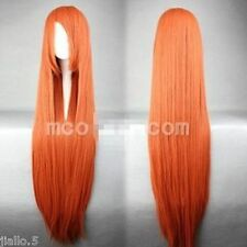 INOUE ORIHIME Long Orange Red Straight Cosplay Wig 80cm Z34775