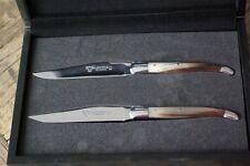 2 Steakmesser Tafelmesser Laguiole en Aubrac Hornspitze Hochglanz