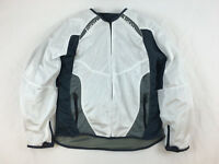 ICON WOMEN'S ANTHEM MOTORCYCLE STREET TEXTILE JACKET WHITE 2X XXL