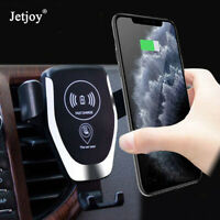 For iPhone 11 Pro Max Samsung S10+ Qi Wireless Car Charger Fast Charging Mount