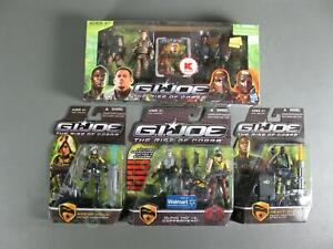 4 MOC 2009 GI Joe Rise of Cobra 8 Figure 2 4 Pack LOT Duke Gung Ho Heavy Duty NR