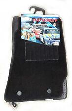2 x Plush Tailored Black Carpet Mats Front Pair to suit Holden Commodore VT VX