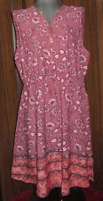 Speed Control NY mauve floral dress with side pockets, Plus size 3X