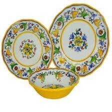 Le Cadeaux Capri Melamine Dinner Salad Plates Cereal Bowls 12-PC Dinnerware Set