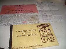 1964 ORIGINAL CORVETTE CONVERTIBLE PROTECTION/PLAN MANUAL+ WARRANTY