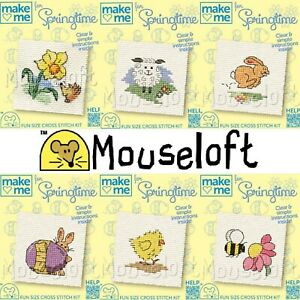 Cross Stitch Kit Make your own Counted Cross Stitch Spring Summer Kids Mouseloft