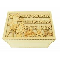 Personalised Christmas Eve Box With Any Name Wooden Wood Gift Xmas Tree Gifts
