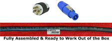 Power Cable 12AWG SJOOW PowerCon to Edison Male or Female- No China-Cloned Parts