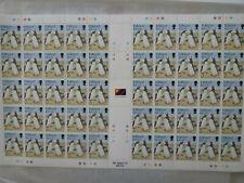 Falkland Islands complete sheet of 50 Gentoo penguins, 37p, VF-MNH