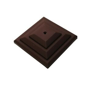 """Linic 15 x Brown 4"""" or 100mm Plastic Fence Post Cap Top Finial UK Made GT0050"""