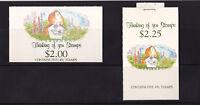 New Zealand - 1991 Thinking of You Booklet - U/M - SG SB55 + SB58