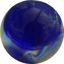"1 x 50mm (2"") ENORMOUS ""LUSTER COBALT BLUE CLEARIE"" MARBLES - NEW"