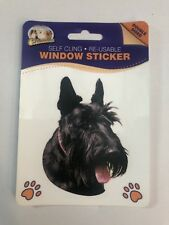 SCOTTISH TERRIER DOUBLE SIDED WINDOW STICKER BRAND NEW