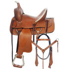 12 In Western Horse Saddle Barrel Racing Trail Child Youth Leather Tack U-9-12