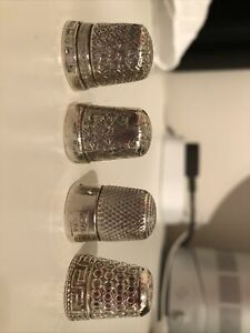 thimbles collection 4 Silver